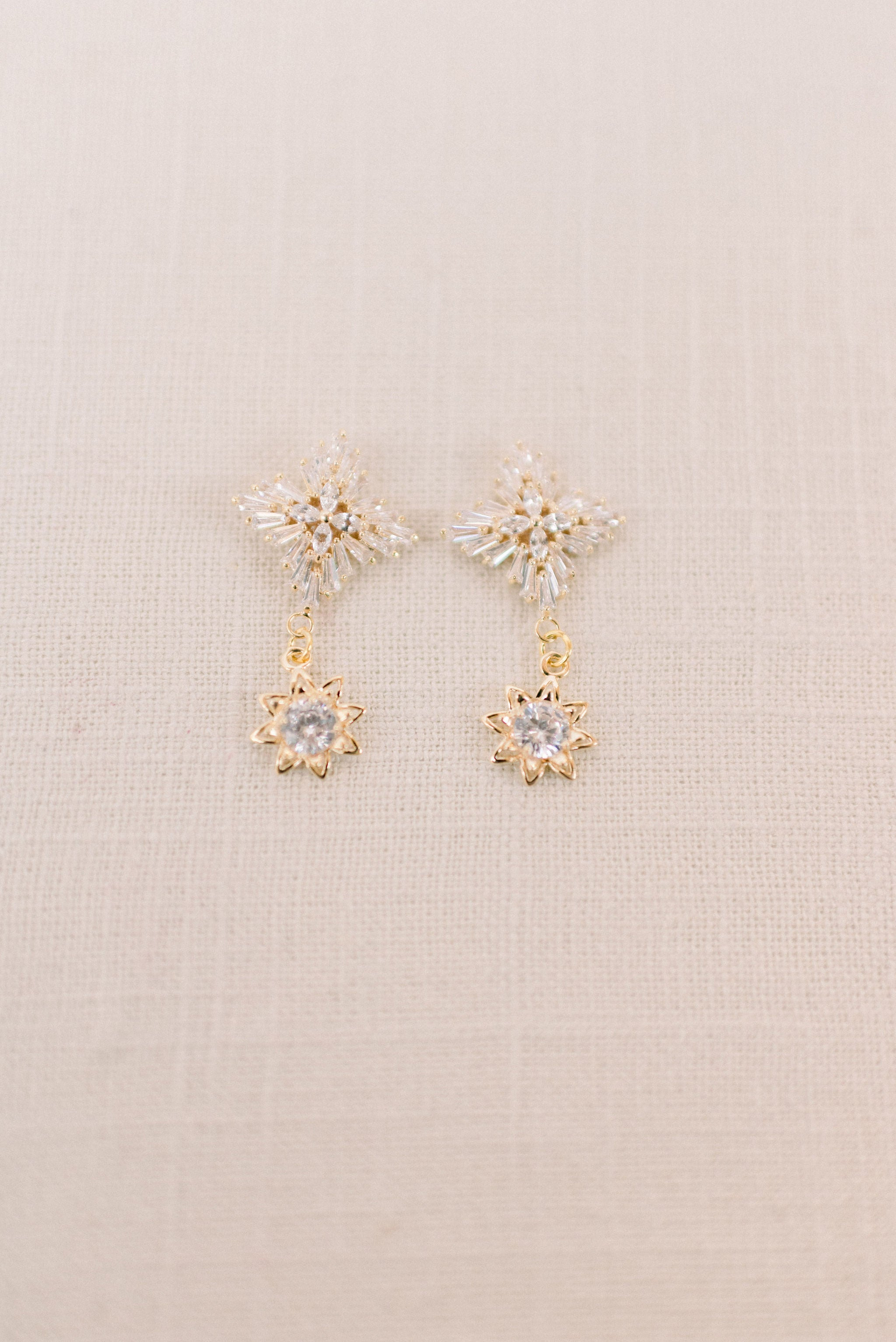 Cubic zirconia drop earrings - Style 6003 - Tessa Kim
