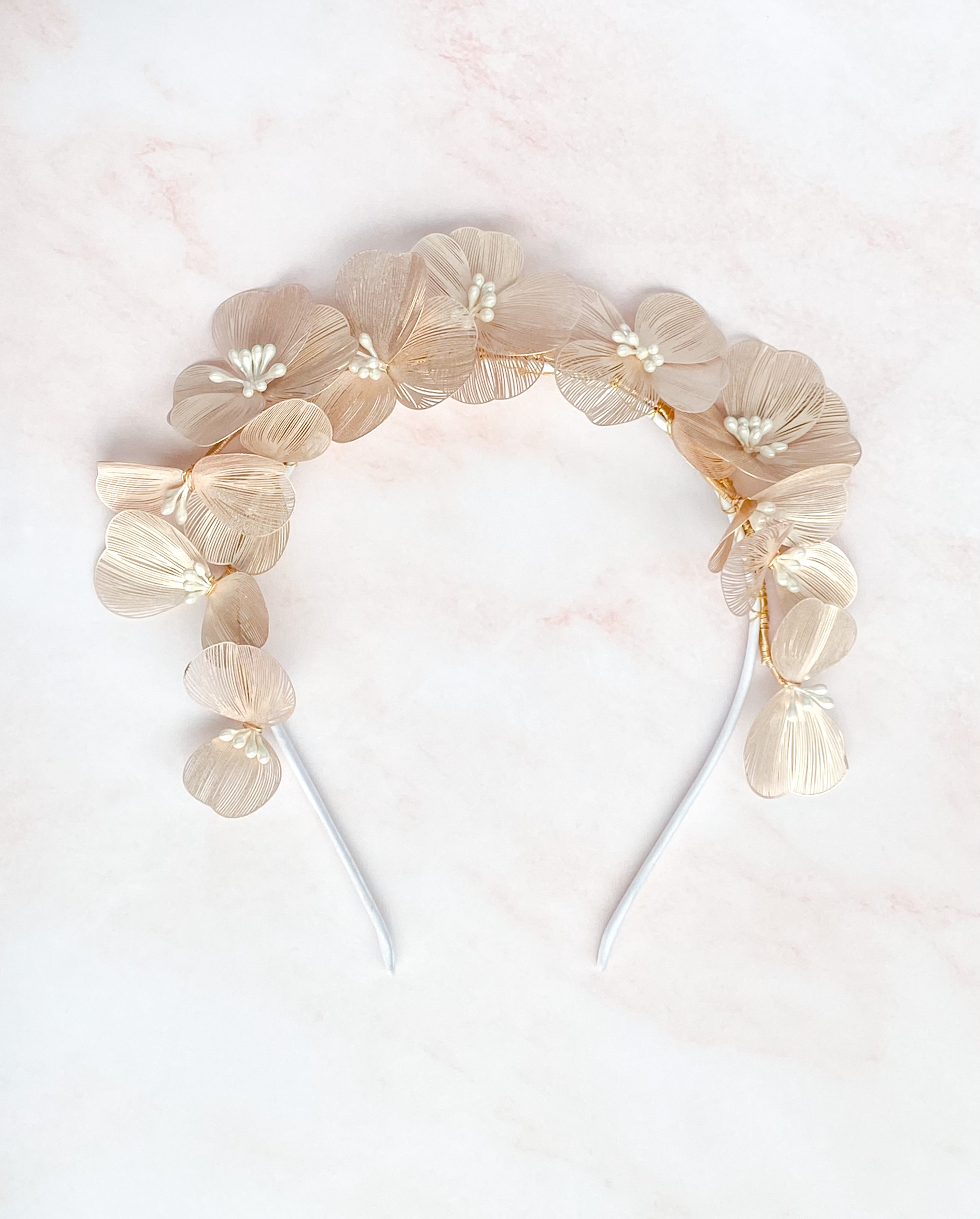 Blush flower headpiece- style 7020 - ready to ship - Tessa Kim