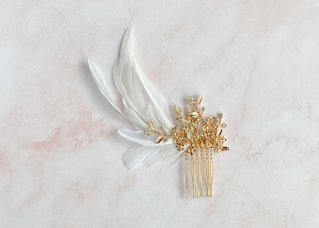 Feather fascinator - style 7020 - ready to ship - Tessa Kim