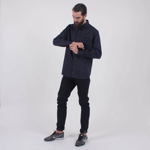 Acclaim Long Sleeve Shirt Navy Blue