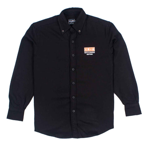 Century Long Sleeve Shirt Black flatlay - front
