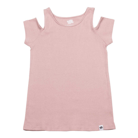Cold Shoulder Tee Rose Pink
