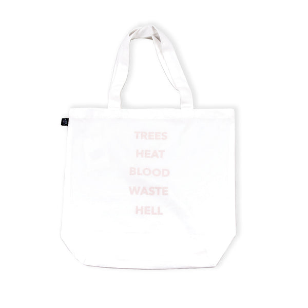 Elements Tote Bag White flatlay - front