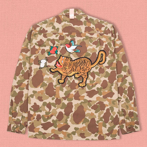 Happy Tiger Work Jacket Woodland Camo