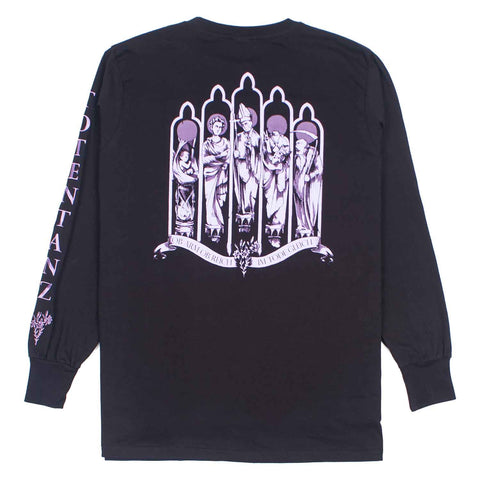 Liszt's Lament Long Sleeve Tee Black flatlay - back