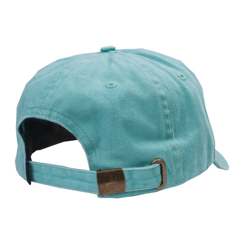 Logo 6 Panel Mint flatlay - back diagonal