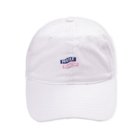 Logo 6 Panel White flatlay - front