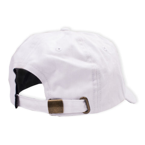 Logo 6 Panel White flatlay - back diagonal