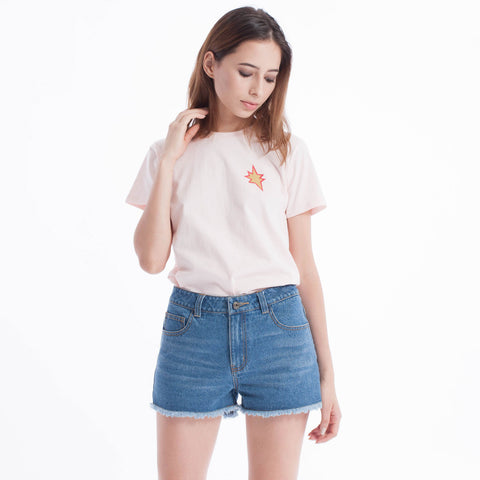 Pop Styles Baby Tee Peach