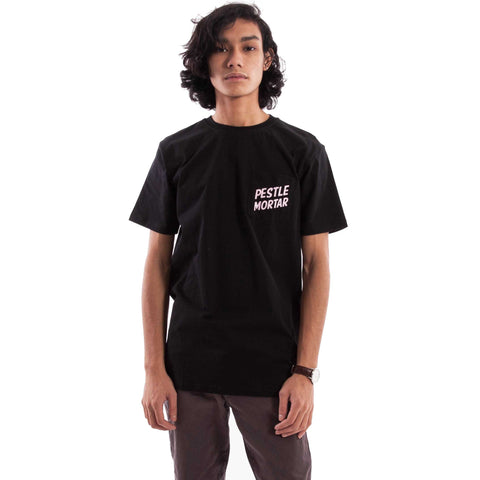 Text Logo Tee Black/Peach catalogue - front