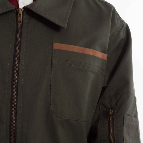 Landing Jacket Green catalogue - closeup front