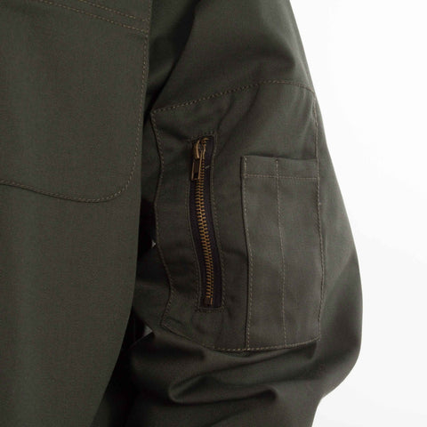 Landing Jacket Green catalogue - closeup side pocket