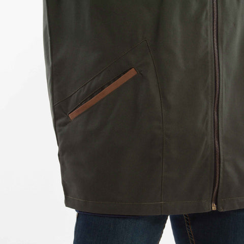 Landing Jacket Green catalogue - closeup front pocket