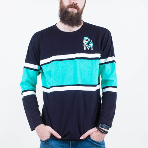 Stacked Long Sleeve Tee Teal