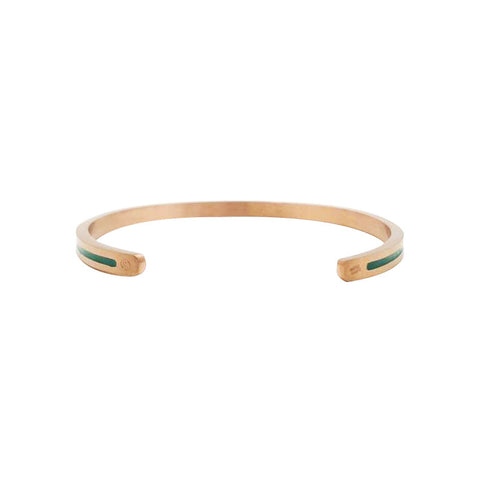 PMC X Andfersand Companion Cuff (Treeline) Rose Gold/Green