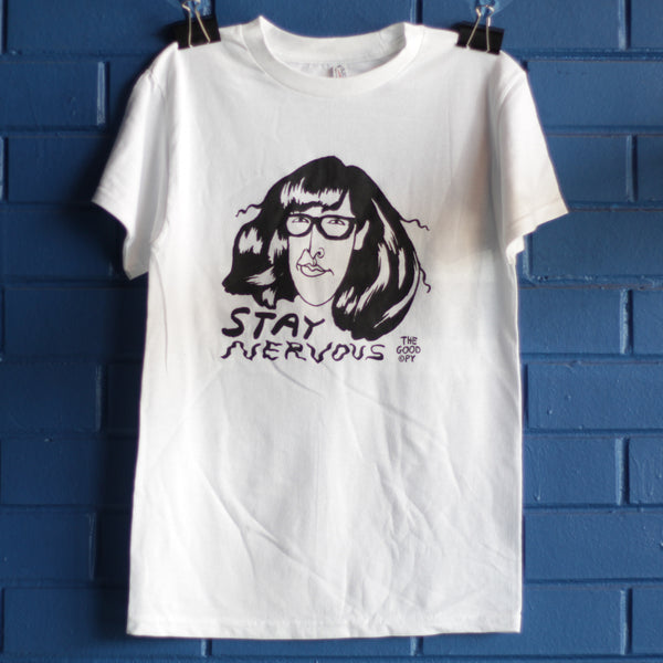 Stay Nervous t-shirt—white