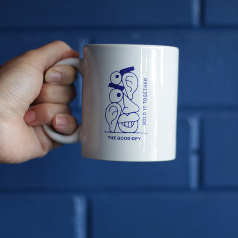 Hold It Together mug—blue
