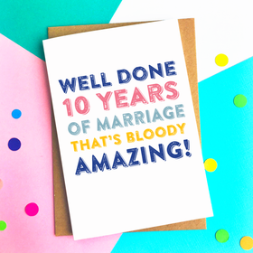 Funny anniversary personalised card