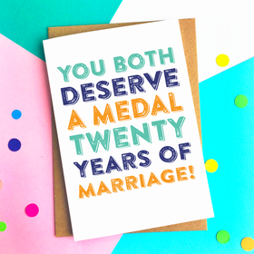 You deserve a medal anniversary card