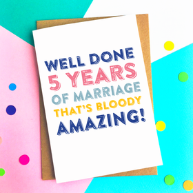 personalised marriage bloody good going card 5