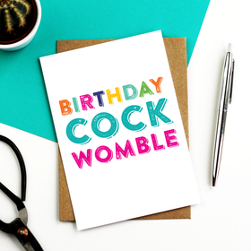 Birthday cockwomble funny card