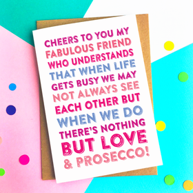 Cheers to you my friend card