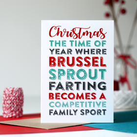Christmas funny Farting greeting card
