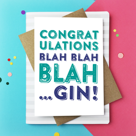 Congratulations Blah Gin Card