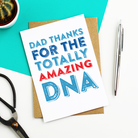 Dad funny DNA card
