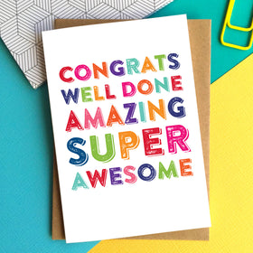 colourful congratulations card