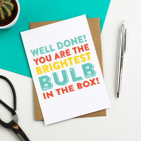Brightest bulb greeting card