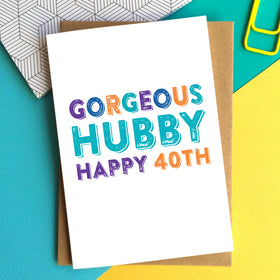 Personalised husband birthday card