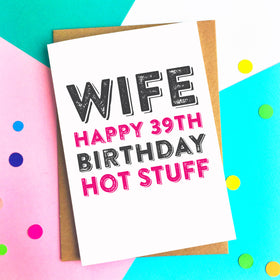 Hot wife birthday card