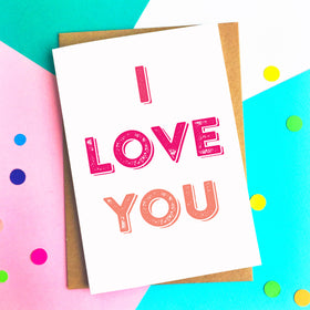 I Love you simple card