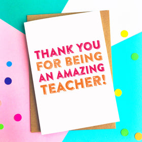 Thank you amazing teacher card