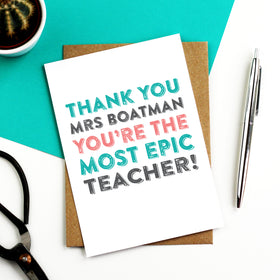 Thank you teacher epic card