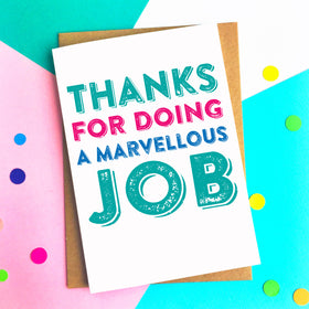 Thank you marvellous job card