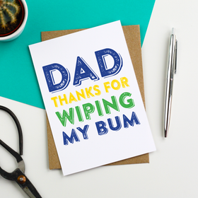 funny dad bum father's day card