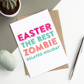 Zombie easter card