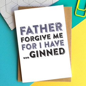 forgive me father funny gin sin card