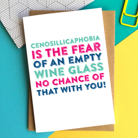 funny wine drinking birthday card