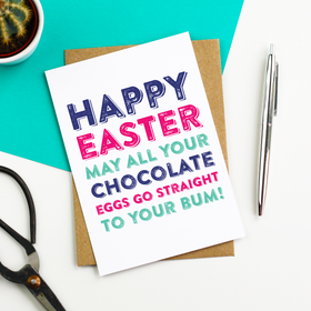 chocolate egg easter card