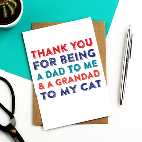 Thank you dad cat card