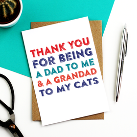 fathers day card for cats