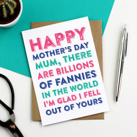 Funny rude mother's day card