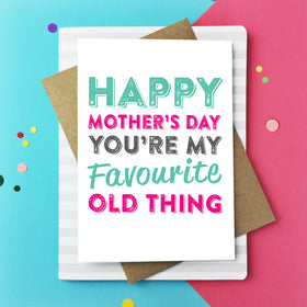 Happy Mother's day old thing card