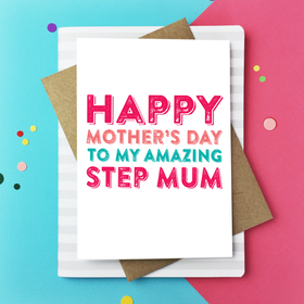 Happy mothers day step mum card