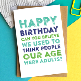 adults at our age birthday card