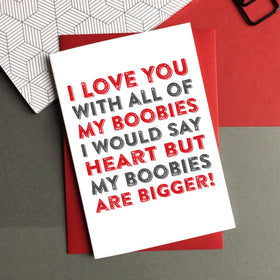 I Love you boobies card