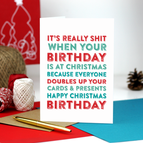 Christmas Birthday funny card